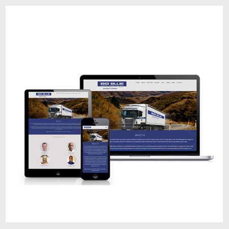 BIG BLUE TRUCKING Website